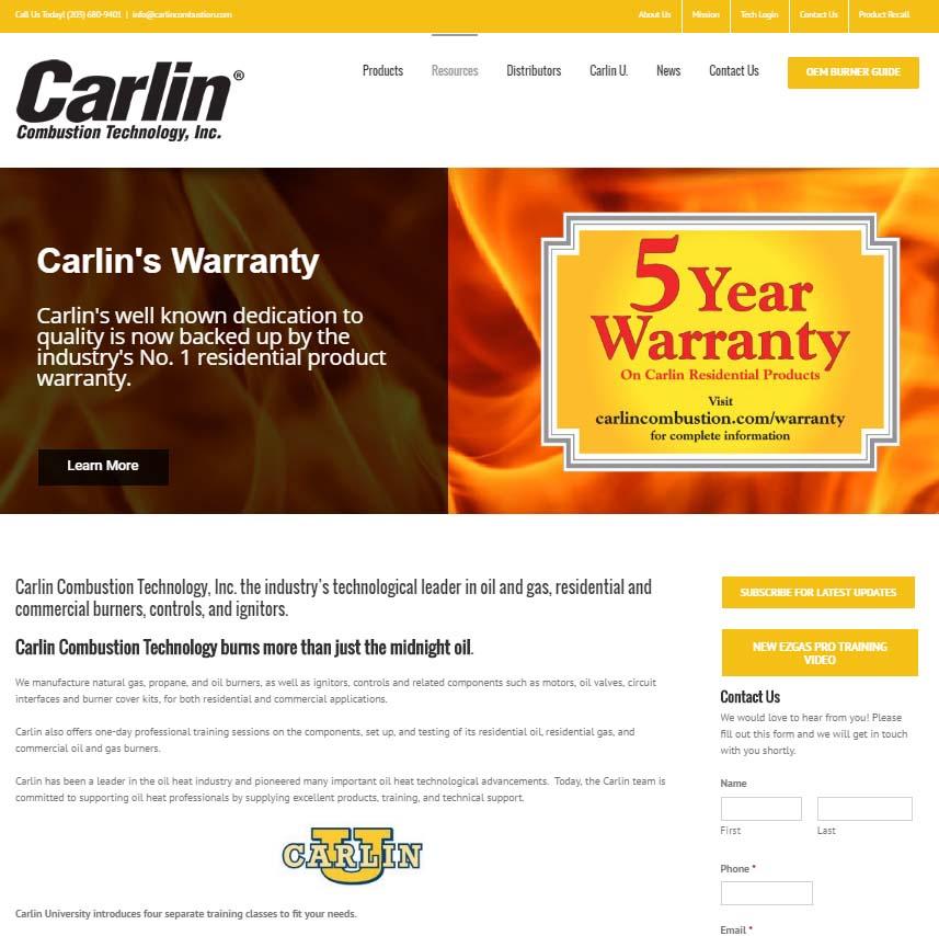 Carlin Combustion. North Haven, CT