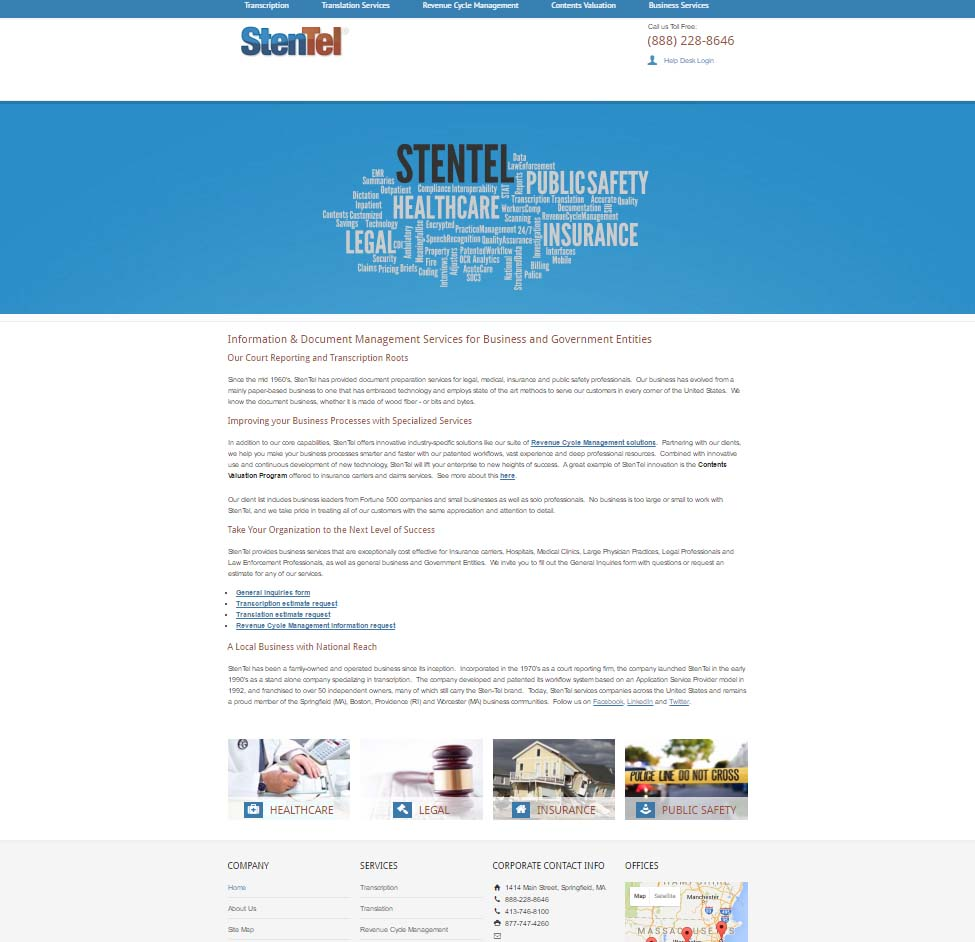 Stentel Document & Data Management Services, Springfield MA